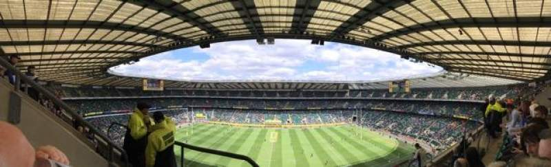 Seating view for Twickenham Stadium Section U7 Row E Seat 167 & 168