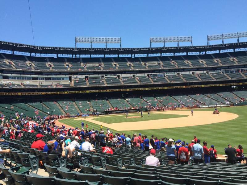 Seating view for Globe Life Park in Arlington Section 39 Row 20 Seat 11