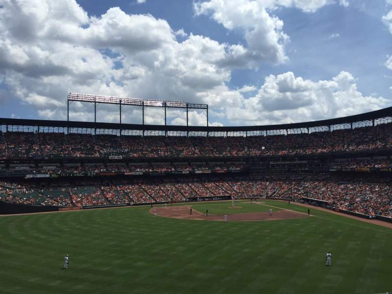 Seating view for Oriole Park at Camden Yards Section 288 Row 1 Seat 13