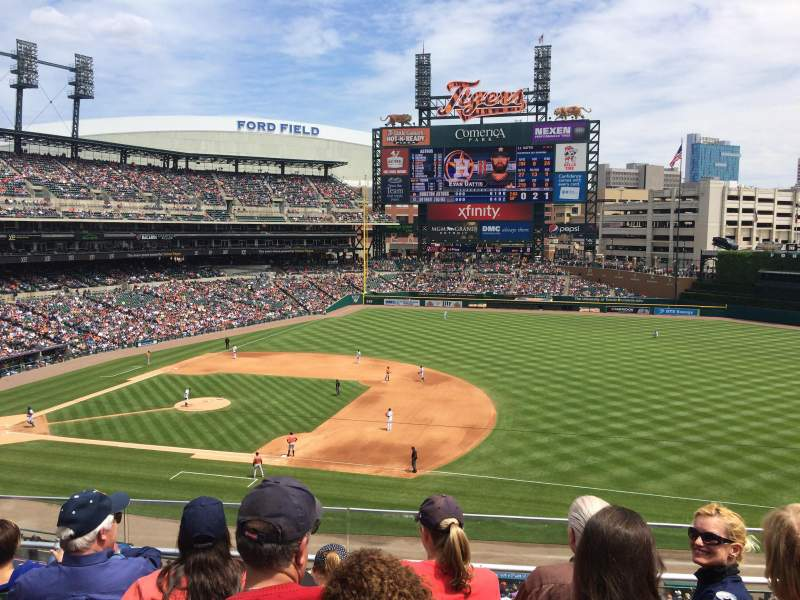 Seating view for Comerica Park Section 218 Row E Seat 18