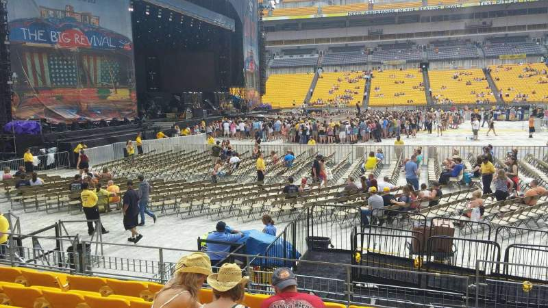 Seating view for Heinz Field Section 109 Row G Seat 1-2