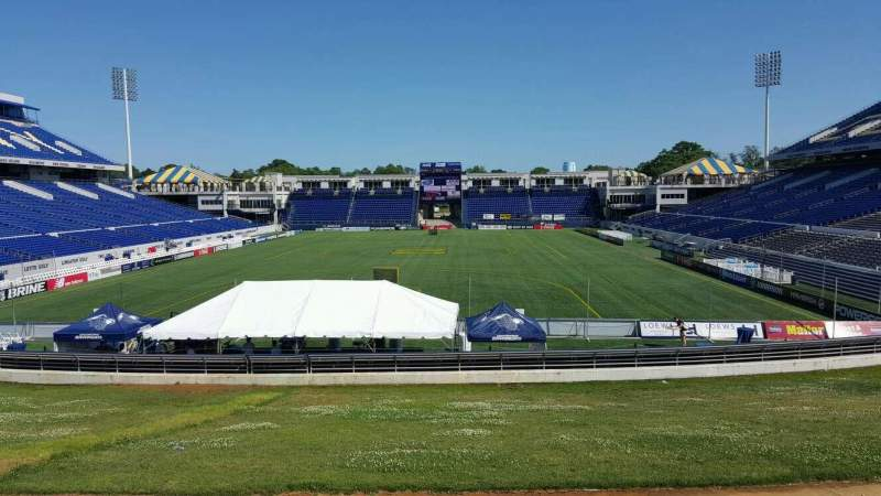 Seating view for Navy-Marine Corps Memorial Stadium Section b Row 5 Seat 35