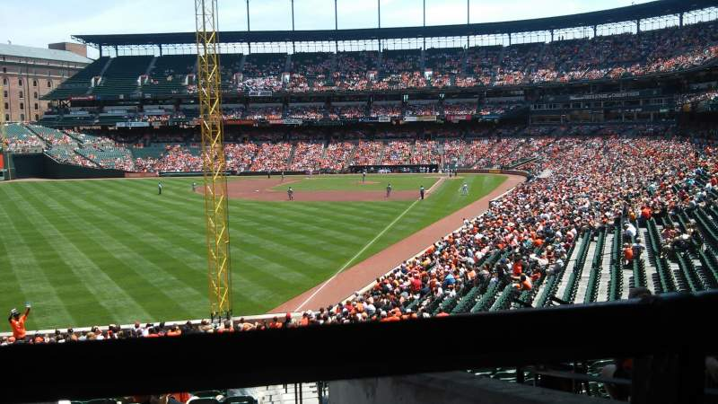 Seating view for Oriole Park at Camden Yards Section 77 Row 6 Seat 1