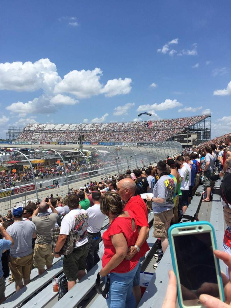 Seating view for Dover International Speedway Section 249 Row 16 Seat 24