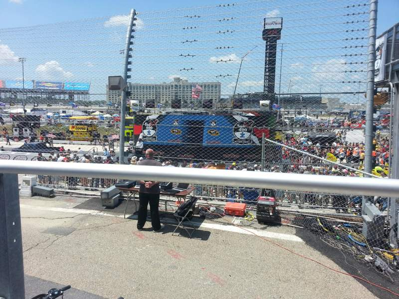 Seating view for Dover International Speedway Section 100 Row 3 Seat 20