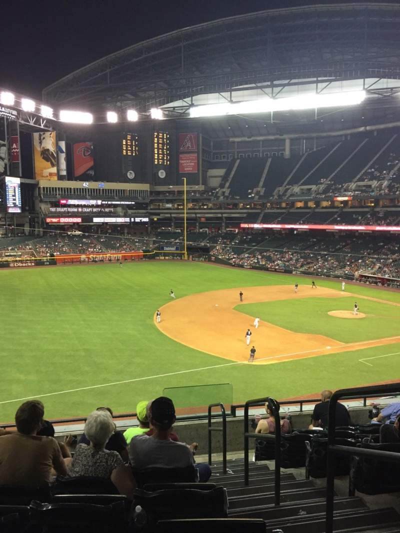 Seating view for Chase Field Section 216 Row 8 Seat 1