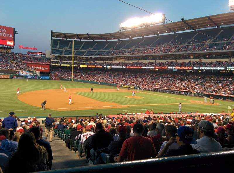 Seating view for Angel Stadium Section 209 Row A Seat 19