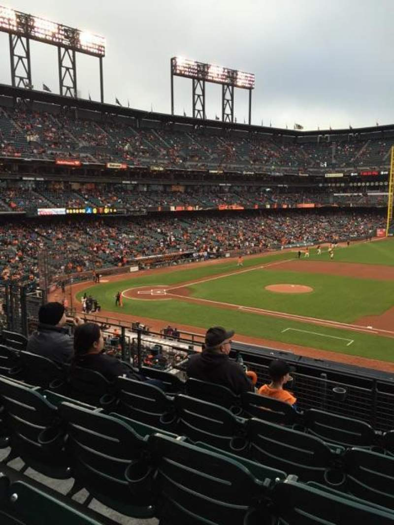 Seating view for AT&T Park Section 207 Row E Seat 6