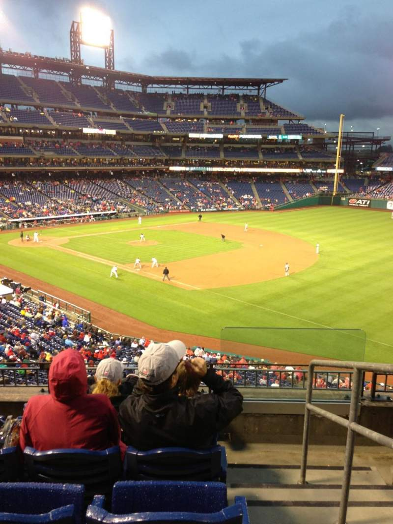 Seating view for Citizens Bank Park Section 210 Row 5 Seat 1