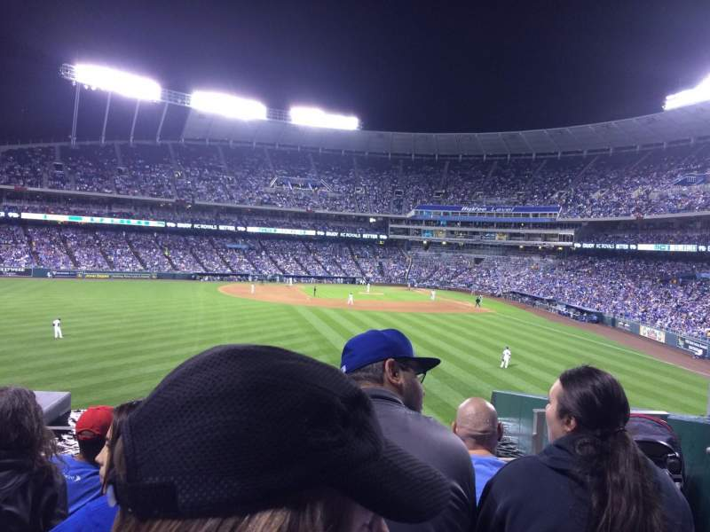 Seating view for Kauffman Stadium Section 203 Row E Seat 16