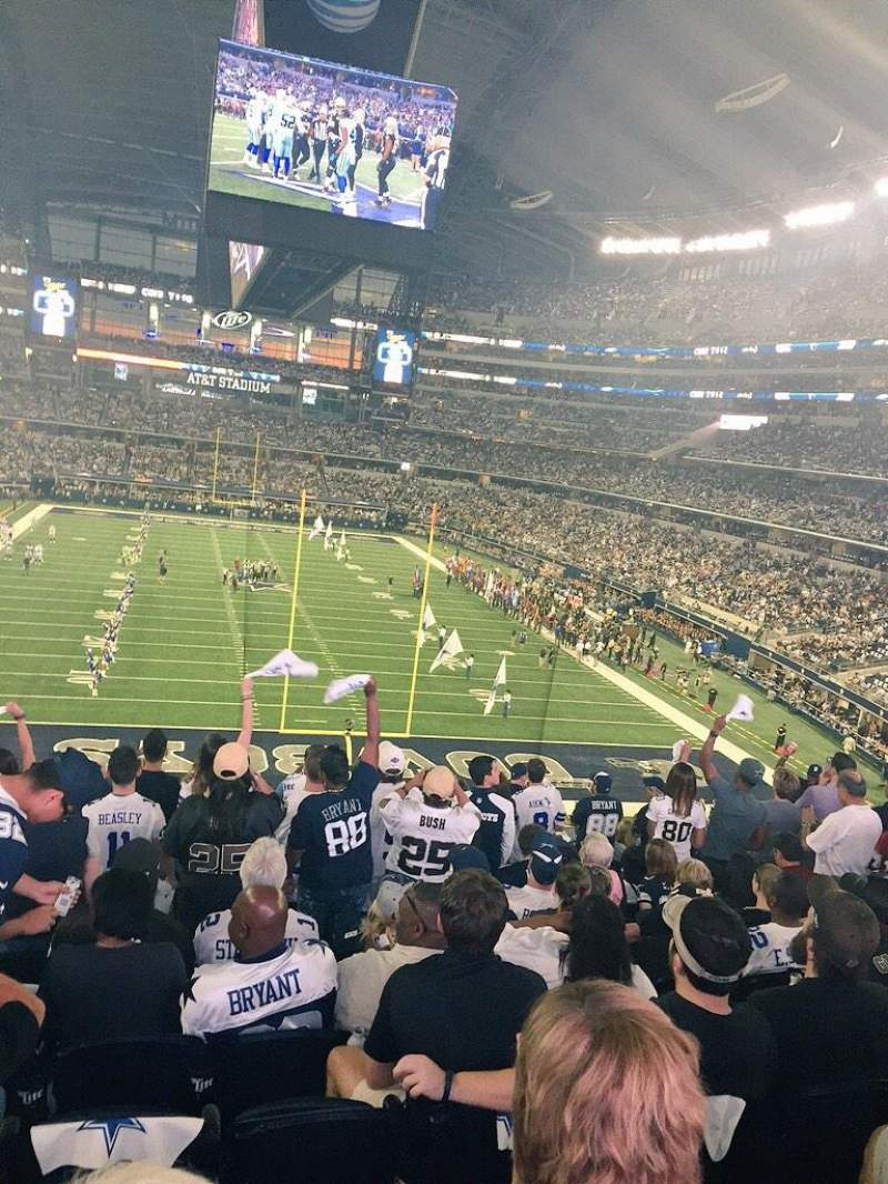 At Amp T Stadium Section Standing Room Dallas Cowboys Vs