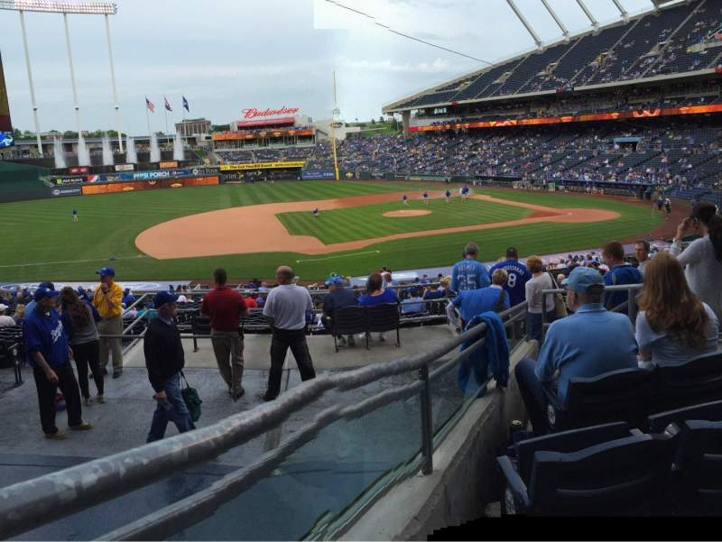 Seating view for Kauffman Stadium Section 219 Row FF Seat 7