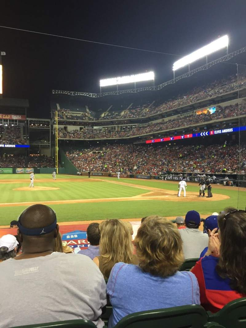 Seating view for Globe Life Park in Arlington Section 20 Row 9 Seat 6