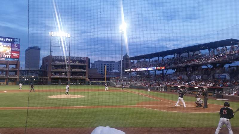 Seating view for Southwest University Park Section 116 Row H Seat 6