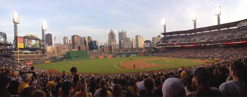 Seating view for PNC Park Section 125 Row V Seat 8
