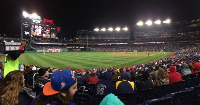 Seating view for Nationals Park Section 109 Row M Seat 4
