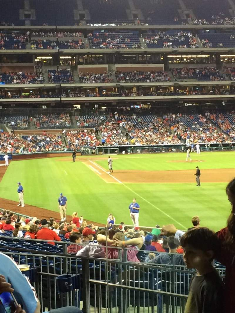 Seating view for Citizens Bank Park Section 107 Row 13 Seat 19