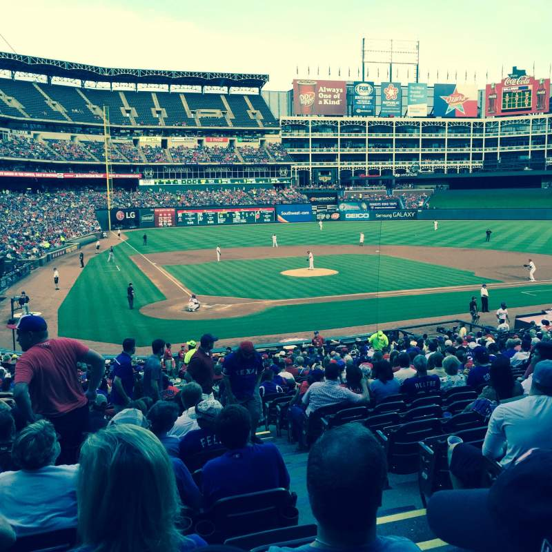 Seating view for Globe Life Park in Arlington Section 29 Row 29 Seat 13