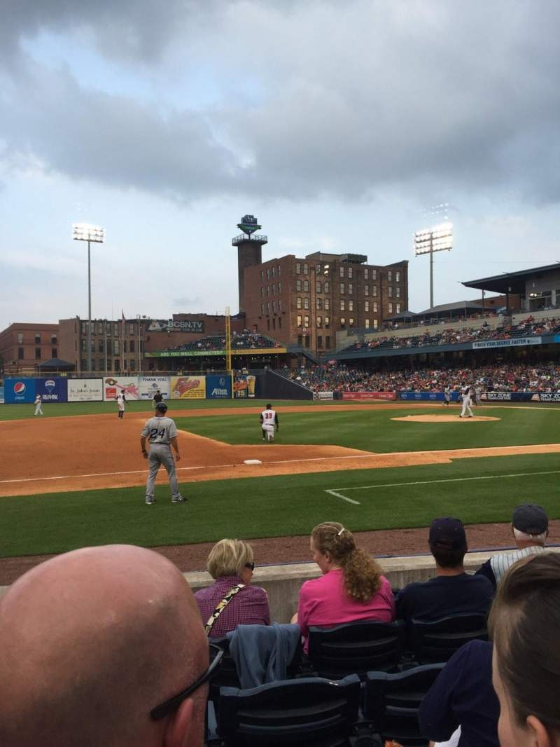 Seating view for Fifth Third Field Section 105 Row E