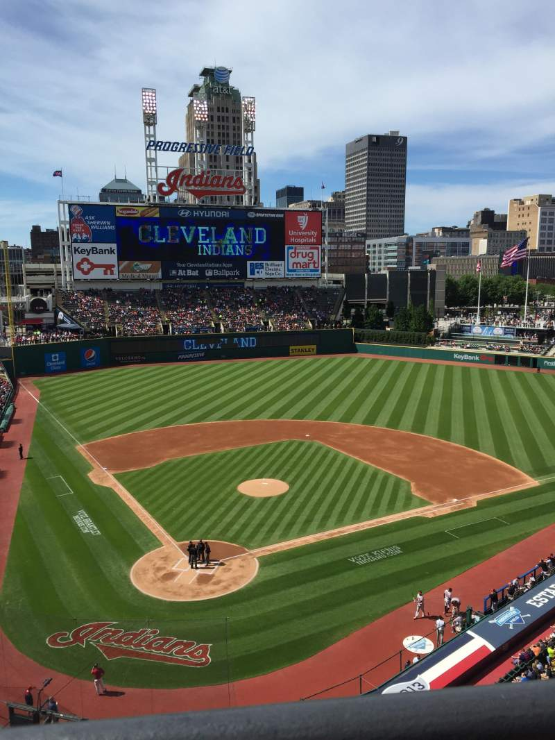 Seating view for Progressive Field Section 452 Row A Seat 9