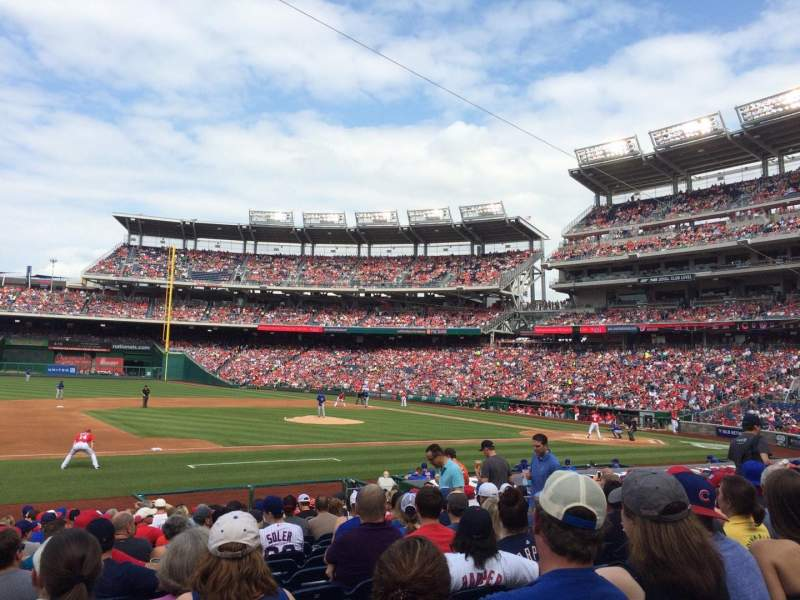 Seating view for Nationals Park Section 115 Row U Seat 15