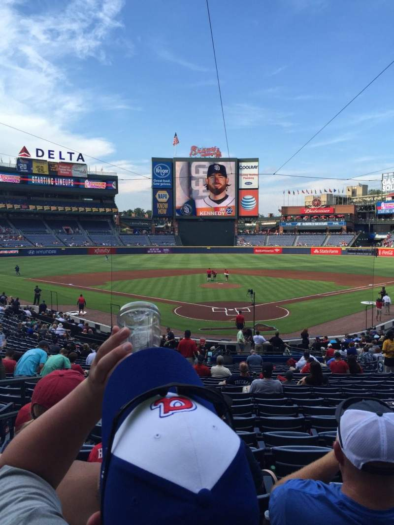 Seating view for Turner Field Section 102 Row 27 Seat 3