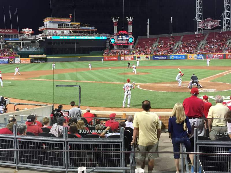 Seating view for Great American Ball Park Section 121 Row P Seat 7