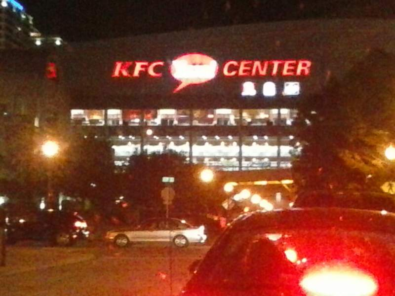 Seating view for KFC Yum! Center