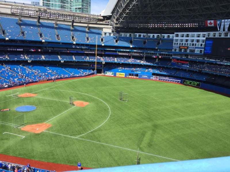 Seating view for Rogers Centre Section 515R Row 1 Seat 5