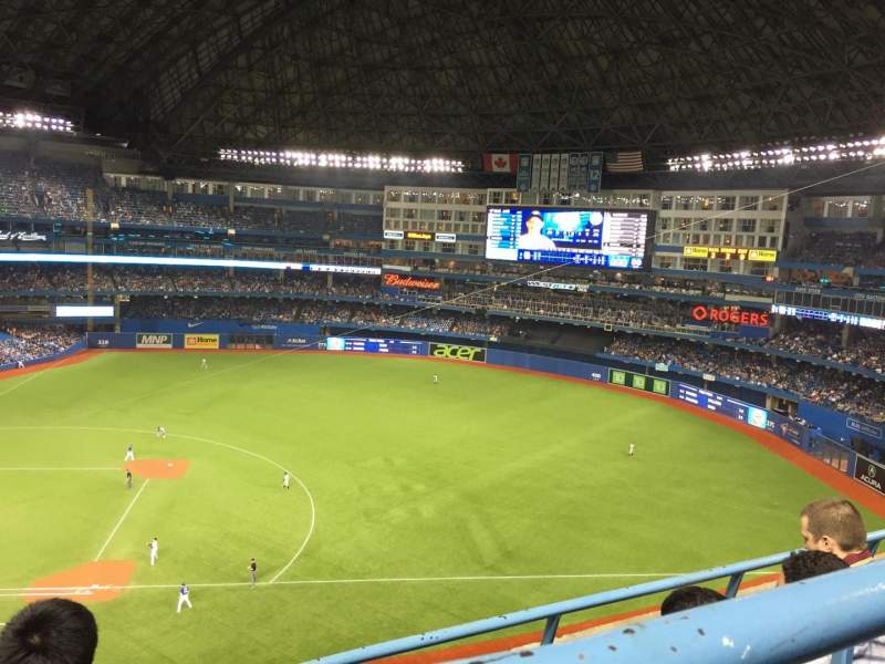 Seating view for Rogers Centre Section 517 Row 3 Seat 1