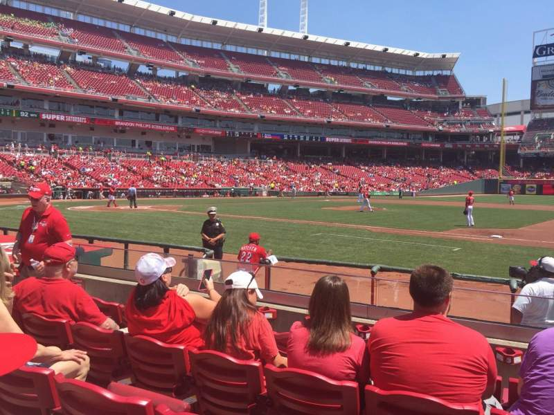 Seating view for Great American Ball Park Section 131A Row J Seat 8