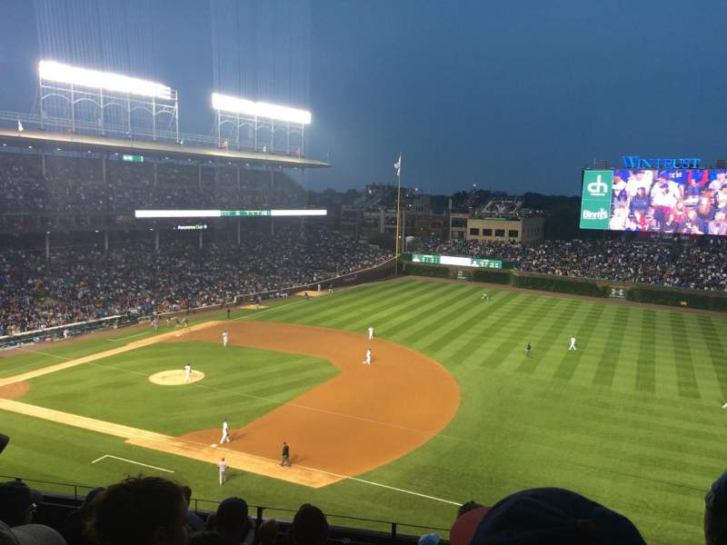 Seating view for Wrigley Field Section 433 Row 9 Seat 102