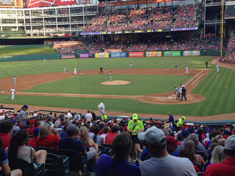 Seating view for Globe Life Park in Arlington Section 23 Row 29 Seat 4