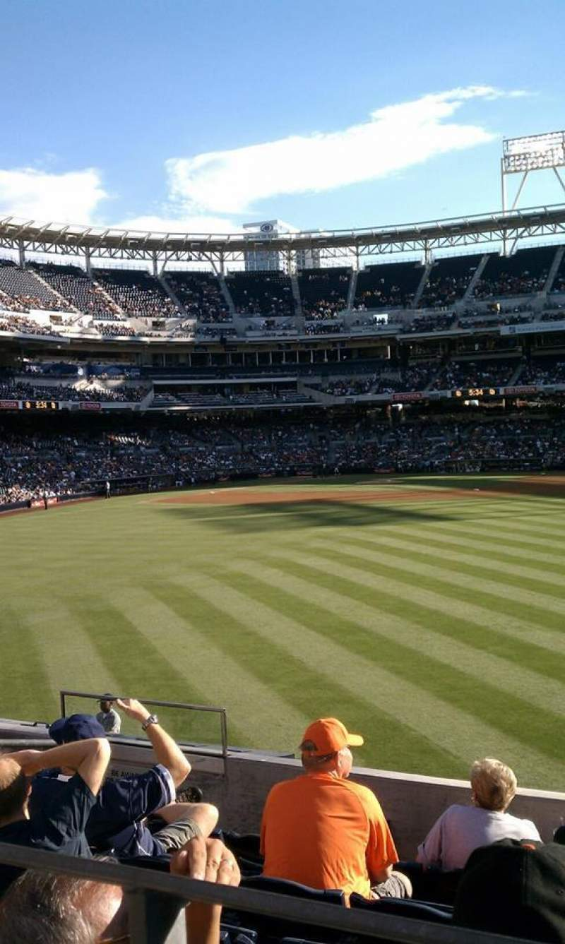 Seating view for PETCO Park Section 131 Row 3 Seat 11