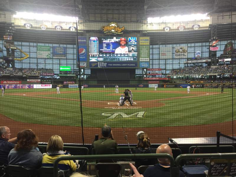 Seating view for Miller Park Section 118 Row 6 Seat 2