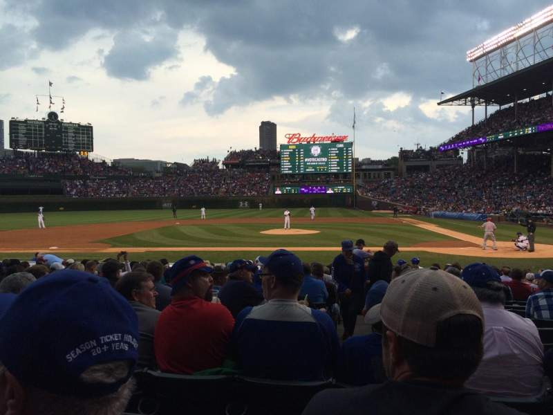 Seating view for Wrigley Field Section 115 Row 4 Seat 5