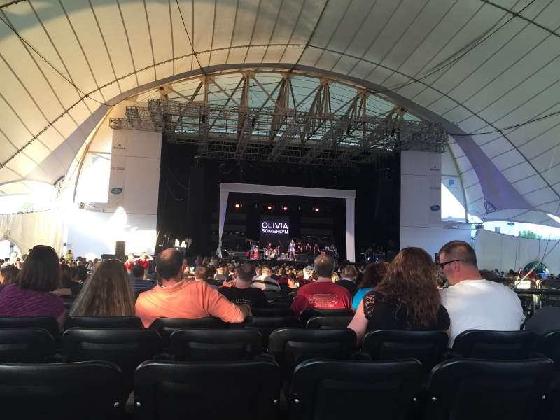 Blue Hills Bank Pavilion, section: 5, row: A, seat: 45