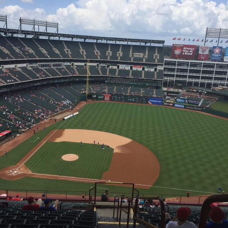 Seating view for Globe Life Park in Arlington Section 333 Row 23 Seat 18