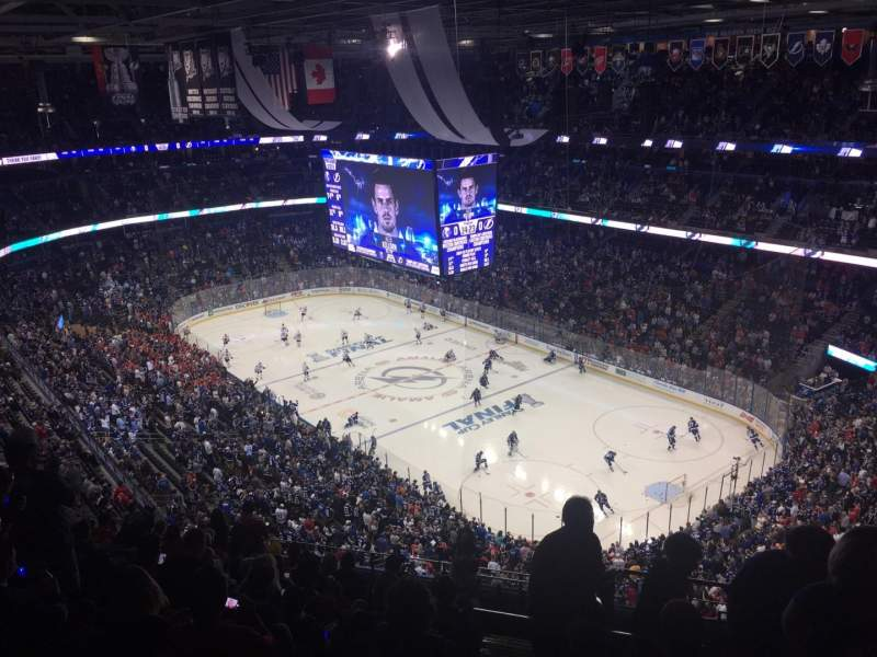 Seating view for Amalie Arena Section 327 Row M Seat 1