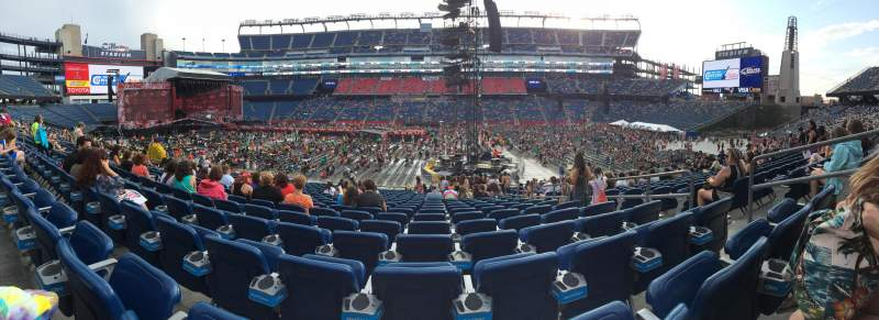 Seating view for Gillette Stadium Section 110 Row 22