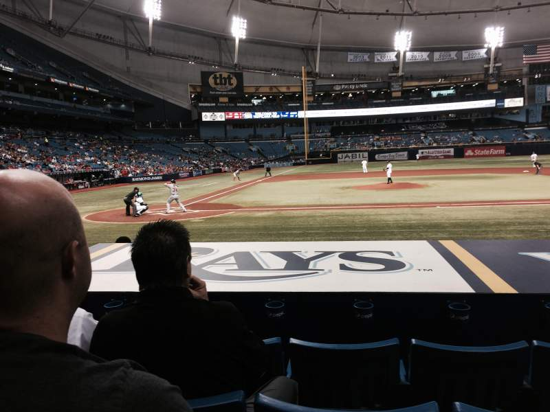 Seating view for Tropicana Field Section 112 Row N Seat 5
