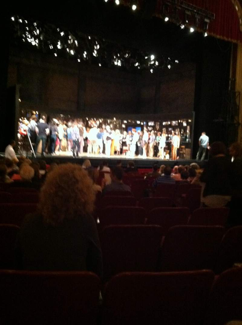 Seating view for Cadillac Palace Theater Section orchestra L Row N Seat 15