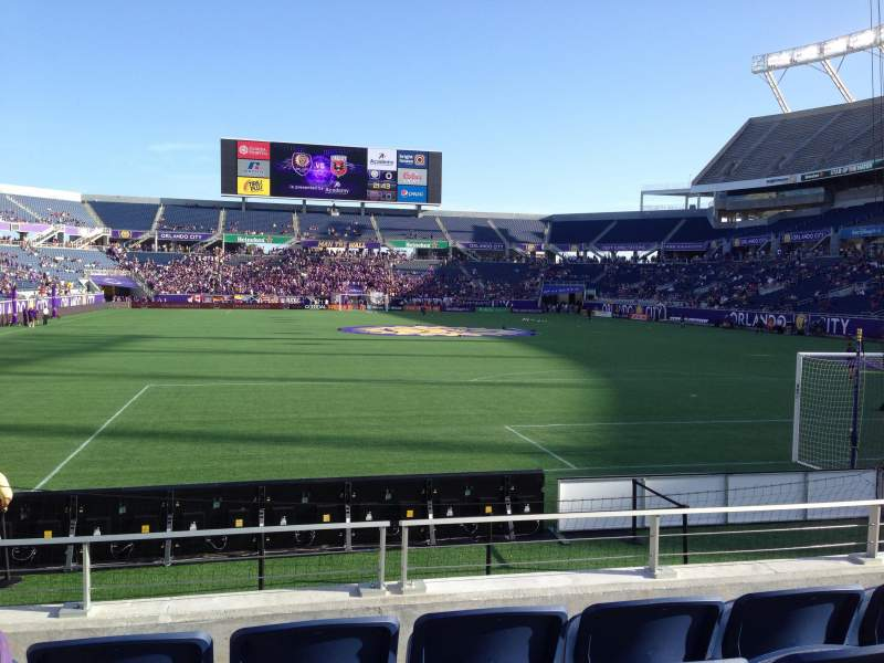 Seating view for Camping World Stadium Section 148 Row J Seat 16