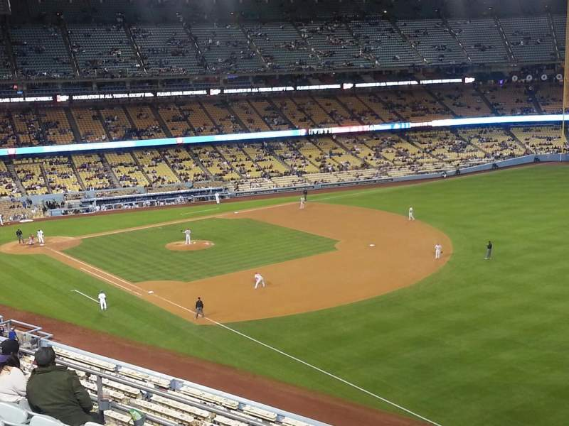 Seating view for Dodger Stadium Section 40RS Row F Seat 21