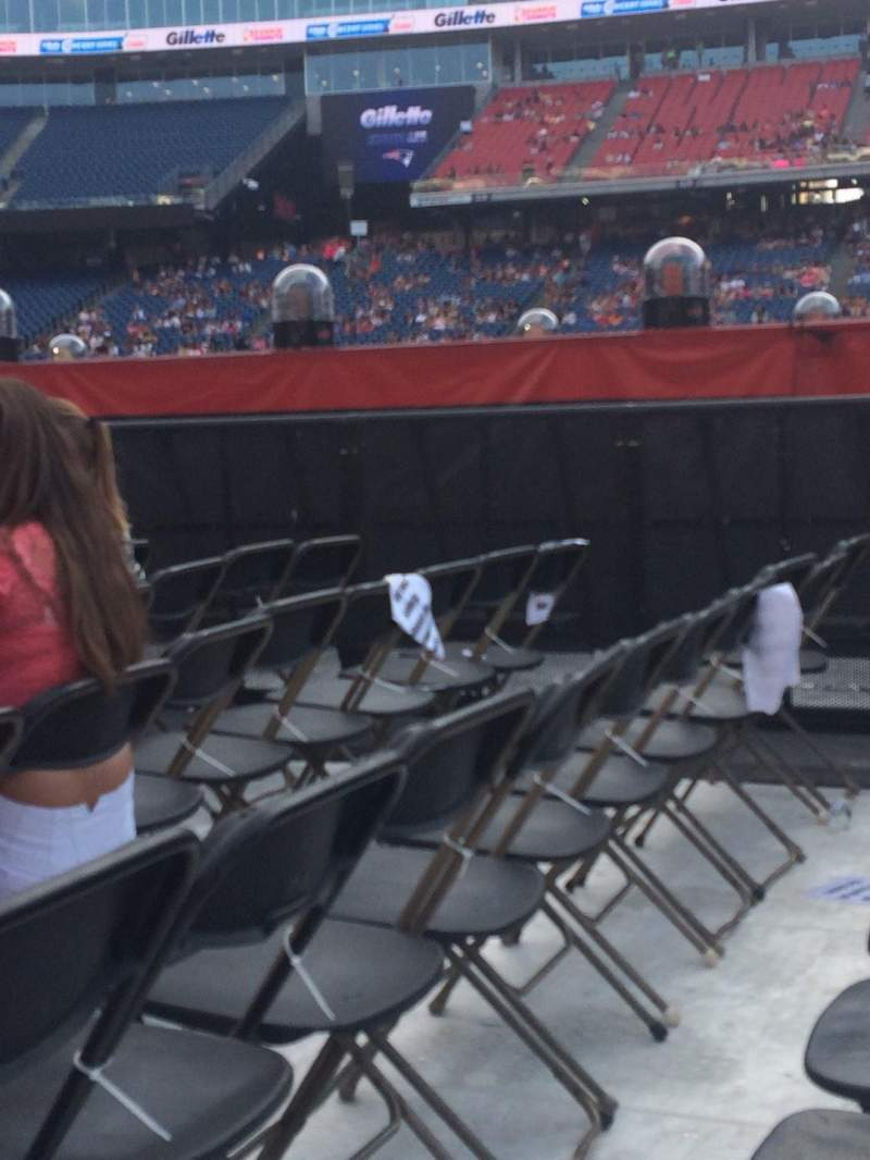 Seating view for Gillette Stadium Section B3 Row 7 Seat 10