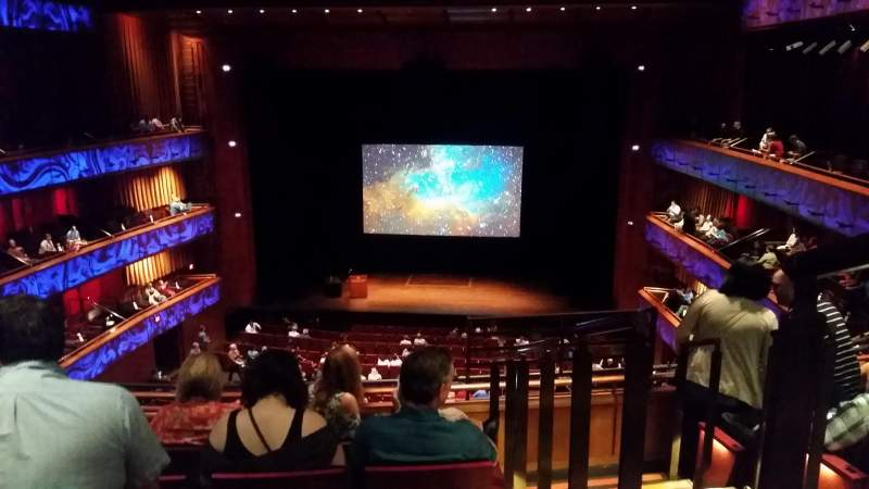 Seating view for Tobin Center for Performing Arts Section Center Mezzanine Row E Seat 115