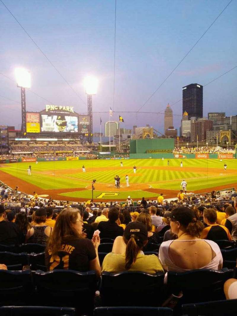 Seating view for PNC Park Section 115 Row R Seat 18