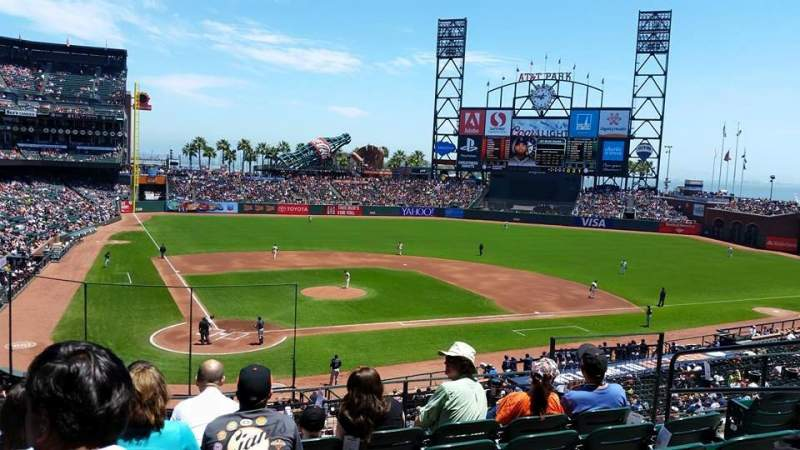 Seating view for AT&T Park Section 212 Row F Seat 7