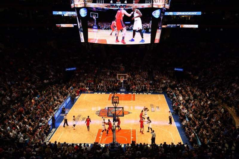 Seating view for Madison Square Garden Section 218 Row 4 Seat 1