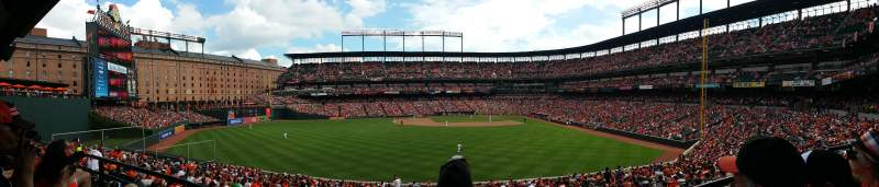 Seating view for Oriole Park at Camden Yards Section 85 Row 3 Seat 6